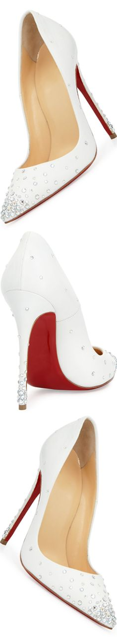 Christian Louboutin Degrastrass Leather 100mm Red Sole Pump, Moonlight