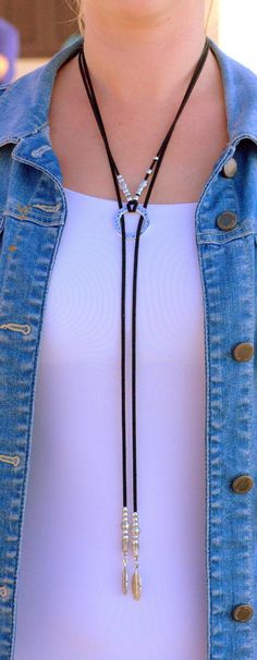 Lariat Necklace, Collar Necklace, Black Necklace, Collar Hippie, Ideas Joyería, Jeweled Shoes, Wrap, 50 Fashion, Bridal Fashion
