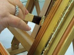 BASIC LEVEL WATER GILDING - Reproduction of ancient cassette frame - gilding with fine gold leaf