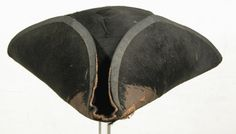 Tricorne hat  National Trust Inventory Number 1349858 Date1775 - 1800 MaterialsWool CollectionSnowshill Wade Costume Collection, Gloucestershire (Accredited Museum)