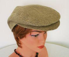 Newsboy Paperboy Flat Cap Linen  Silk  Blend by MermaidsHatbox