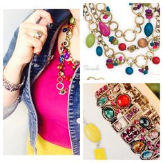 Parade necklace, sheerly playful bracelet, gilden ring