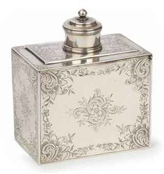 Dutch silver tea-caddy and cover Mark of Hendrik Swierinck, Amsterdam, 1761,