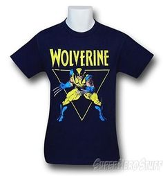 Wolverine Retro Triangle T-shirt - Marvel Symbol