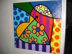 Atelier D Art, Arte Country, Valentines Art, Arte Pop, Pottery Painting, Heart Art, Art Plastique, Elementary Art, Rock Art