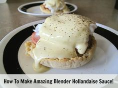 Think you can& make an Eggs Benedict recipe at home? The easy blender Hollandaise alone can be eaten on a spoon, it& so delish! Molho Hollandaise, Blender Hollandaise, Easy Eggs Benedict, Eggs Benedict Recipe, Brunch Recipes, Breakfast Recipes, Eat Breakfast, Sweets Recipes, Recipes