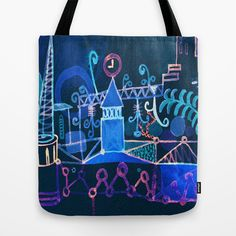 magic city Tote Bag by Marianna Tankelevich - $22.00