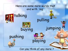 Adding 'ing': Simple interactive resource with animations to use in your classroom