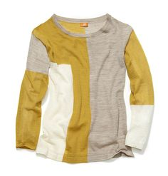 Joe Fresh Women's Colour Block Crewneck  mustard and gray heather? I like it. Considering I didn't actually order any of the clothes I Pinned here for summer, it's very important that I do this again for fall.