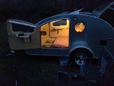 YouTube Small Camper Trailers, Tiny Camper, Small Campers, Camper Van, Camping Trailers, Gidget Retro Teardrop Camper, Teardrop Trailer, Space Trailer, Berlingo Camper