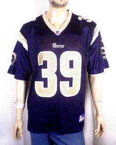 euc Reebok On Field Steven Jackson Jersey St Louis LA Rams NFL Equipment M 34eb3d6a9