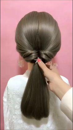 work hairstyles for long hair Hairdo For Long Hair, Long Hair Video, Bun Hairstyles For Long Hair, Easy Hairstyles For Work, Fast Hairstyles, Hairstyles Videos, Braided Hairstyles Tutorials, Hair Updo, Hair Tutorials