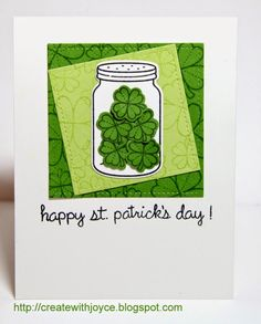 03 16 2015; Happy St. Patrick's Day! Lawn Fawn My Lucky Charm; Bugs and Kisses; Happy Everything; Stitched Square Stackables