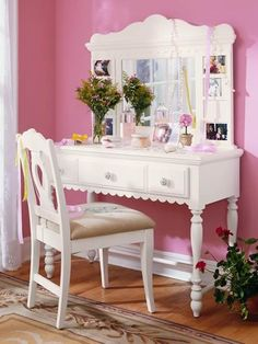 Is cute and a vanity is totally nessacary in a teen girls bedroom more