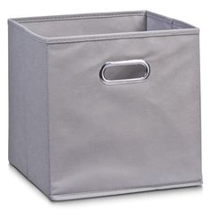 Zeller 32 x 32 x 32 cm Storage Box, Grey/ Fleece: Amazon.co.uk: Kitchen & Home