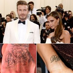 David and Victoria Beckham are serious about their sweet tattoos!