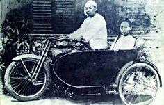 Myoma Sayagyi U Ba Lwin,Head master of the  Myoma National school,and his wife Daw Than Nyunt in Rangoon c.1924.