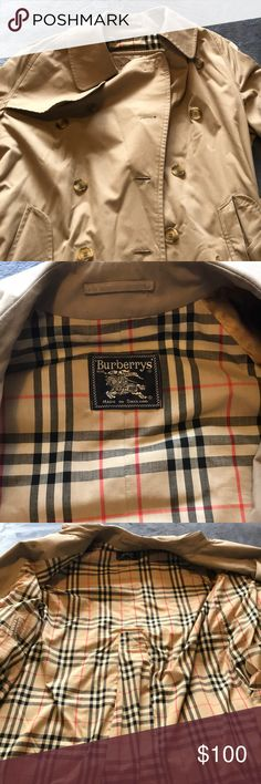Burberry jacket Long Burberry rain jacket/ coat. A truly classic piece of clothing, with the classic Burberry pattern on the inside, purchased from Burberry in London, UK Burberry Jackets & Coats Trench Coats