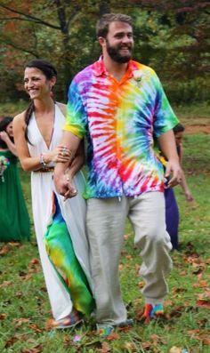 Tie Dye Wedding cakepins.com