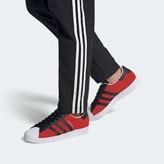 Superstar Shoes Superstars Shoes, Vans Old Skool, Adidas Superstar, Adidas Sneakers, Menswear Trends, Fall, Winter, Red, Style