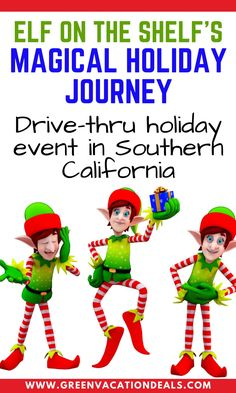 Elf on the Shelf's Magical Holiday Journey is a can't miss drive-thru event in Southern California! If you are in the Los Angeles area, you should definitely check it out! You'll magically shrink down to elf-size & enjoy a fun expedition (or at least it will feel that way!). You can enjoy fantastic Christmas sights like beautiful lights & gingerbread villages. Perfect for all ages from kids to adults. Find out how you can get a great price on this drive-through holiday event in Ponoma…