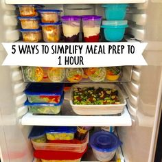 5 Ways to Simplify Meal Prep to 1 Hour | Meal Plan Addict