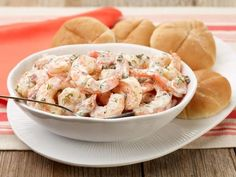 Get Roasted Shrimp Salad Recipe from Food Network.  I think I will add roasted potatoes too.  Recipe by Ina Garten.