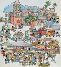 Larry Alcala's Spice of Life Filipiniana, Free Desktop Wallpaper, Slice Of Life, My Childhood Memories, Cartoon Styles, Caricature, Larry, Illustrators, Drawings