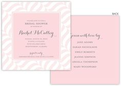 Ballet Pink Wavy Stripes Invitations