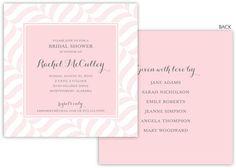 Ballet Pink Wavy Stripes Invitations
