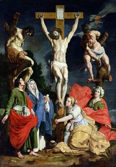 Crucifixion Painting - Calvary by Abraham Janssens van Nuyssen Catholic Art, Religious Art, Jesus Painting, Crucifixion Painting, Christian Artwork, Sign Of The Cross, Life Of Christ, Christian Religions, Jesus Pictures