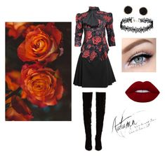"""""""Vampire look"""" by exotics-benita-hunhan on Polyvore featuring Alexander McQueen, Christian Louboutin and Humble Chic"""