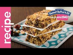 Loaded Peanut Butter Granola Bars Recipe - YouTube