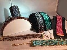 Peyote with size 6/0 seed beads
