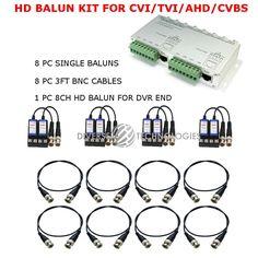 8CH  8 Channel HD 1080P 720P CCTV BALUN KIT TVI CVI AHD 960H SECURITY CAMERAS  #DIVERSETECHNOLOGIES