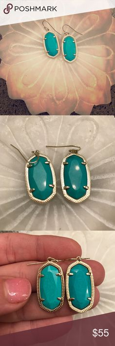 Kendra Scott Dani earrings Worn once, otherwise kept in jewelry box. Not sure of exact color name. Anyone know? Kendra Scott Jewelry Earrings