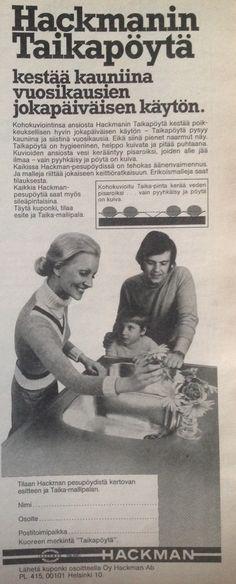 Hackmanin taikapöytä mainos 1976