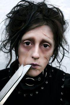 Halloween makeup Edward Scissorhands by Amanda Chapman https://www.facebook.com/amandachapmanphotography