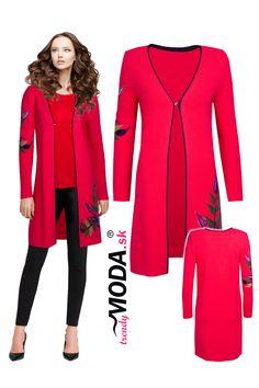 Červený dámsky pletený sveter s efektnou aplikáciou Modeling, Polyvore, Image, Fashion, Moda, Modeling Photography, Fashion Styles, Models, Fashion Illustrations
