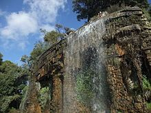 Waterfall on the Colline du Chateau, Nice, France
