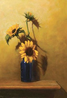 Sunflower Painting Original Oil Still Life By Dalystudios 80000 Paintings Art