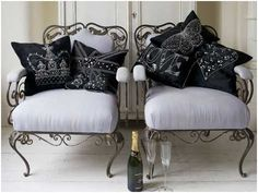 These will be in either my bedroom or dressing room. Dressing Room, Sweet Home, Couch, Pillows, Bedroom, Interiors, Furniture, Heart, Design