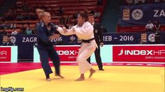 What a strong and dynamic Seoi-nage!