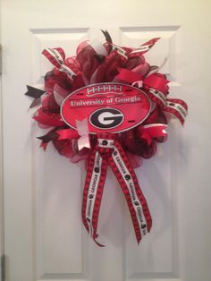 Small collegiate wreath  17 diameter by BFFCreativeDesigns on Etsy