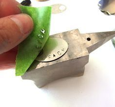 Great little tutorial, I never thought of putting tape over piece to stamp, would make it much easier.