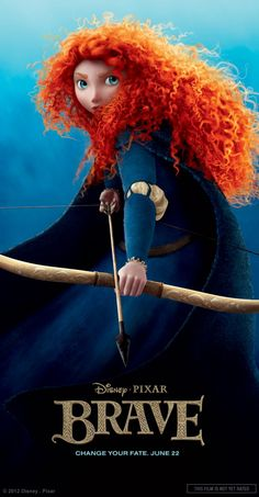 The character details in Pixar's new Brave movie are mind-blowing! Check out the hair and clothing fabric.