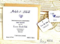 partecipazione matrimonio bianca e blu scuro con impronta Paper Design, Place Cards, Place Card Holders, Diy, Atelier, Bricolage, Do It Yourself, Homemade, Diys