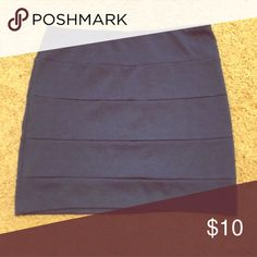 Blue Bandeau Skirt! Worn once and in great condition. Perfect for a fall transition piece. Size L but fits like a M. Very form fitting. Boutique bought! 💙 Skirts Mini