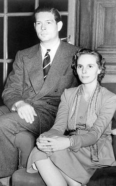 Queen Anne and King Michael in their home in Ayot House, September 23, 1952