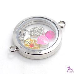 Locket Bracelet, Floating Lockets, 316l Stainless Steel, Diy Fashion, Bracelets, Glass, Silver, Jewelry, Jewlery